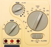 Control panel of radio, closeup picture Royalty Free Stock Photos