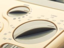 Control panel of radio, closeup picture Royalty Free Stock Image