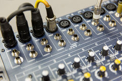 Control panel at recording studio or radio station Royalty Free Stock Image