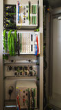 Control panel with relay protection devices Stock Photos