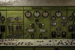 Control panel in a science institute Royalty Free Stock Photography