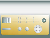Control panel or set of different buttons Royalty Free Stock Images