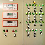 Control panel and settings for vents and boilers Royalty Free Stock Photo