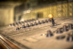 Control Panel. Shallow depth of field on a control panel in a power station Royalty Free Stock Photography