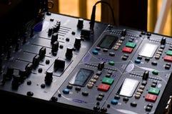 control panel sound system Στοκ φωτογραφία με δικαίωμα ελεύθερης χρήσης