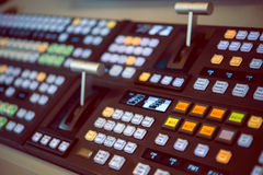 The control panel in the studio Royalty Free Stock Images