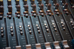 The control panel in the studio. Recording Royalty Free Stock Photos