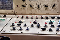 Control panel of submarine Royalty Free Stock Photos
