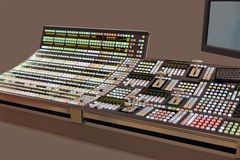 Control panel telecasts Royalty Free Stock Image