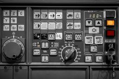 Control panel texture. With lots of buttons Stock Photo