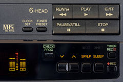 Control Panel of a video recorder Stock Photos