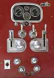 Control panel on a vintage fire truck. Royalty Free Stock Photography