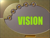 Control panel vision vector illustration