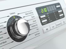 Control panel of washing machine. Stock Photo