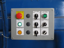 Control panels. For machine in factory Royalty Free Stock Image