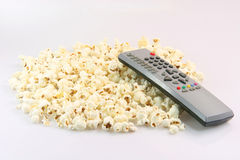 Control and popcorn Royalty Free Stock Image