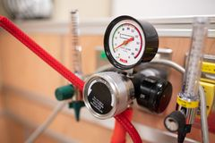Oxygen delivery system in the hospital royalty free stock photos
