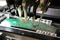 Control of printed circuit boards Stock Photography