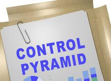 CONTROL PYRAMID concept. 3D illustration of CONTROL PYRAMID title on business document Royalty Free Stock Photo