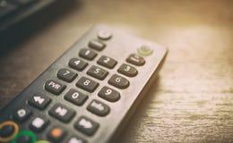 Control remoto por satélite del set-top box de la televisión por cable Fotos de archivo libres de regalías
