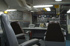 Control Room. The weapons control room of a military ship Stock Photography