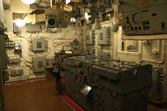 A control room aboard the Belfast Stock Images