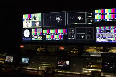 Free Control Room At SNL Exhibition In NYC Royalty Free Stock Image - 104802596