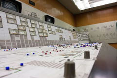 Control room of the atomic power plant Royalty Free Stock Photo