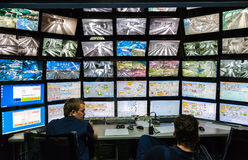 Control room of the attraction Grand Russian layout. Is the larg Stock Photo