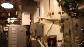 Control room ceiling. HONOLULU, OAHU, HAWAII, USA - AUGUST 21, 2016: ceiling of the machine room of USS Bowfin Submarine SS-287 at Pearl Harbor. Popular tourist stock video footage