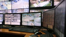 City surveillance control center zoom out