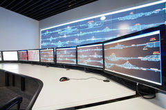 Control room for CRH. Modern electronic technology inside the control room for CRH in China royalty free stock images