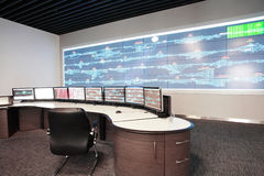 Control room for CRH. Modern electronic technology inside the control room for CRH in China royalty free stock photo