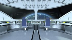 Control room. 3D CG rendering of the control room Royalty Free Stock Photography