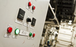 Control room of a extra large cargo ship. Stock Images