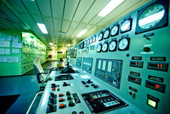Control Room of an extra large ship. Stock Photography