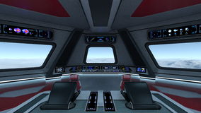Control room. Image of space station control room Royalty Free Stock Photos