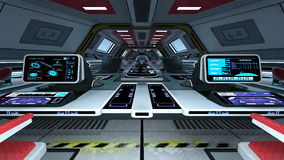 Control room. Image of space station control room Royalty Free Stock Photography