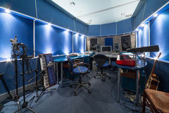 Control room with music equipment Stock Photo