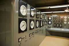 Control room nuclear power plant Stock Photography