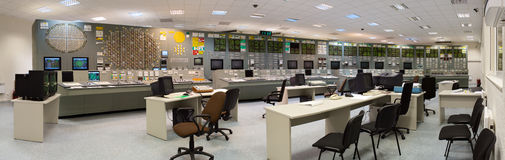 Control room - nuclear power plant royalty free stock image