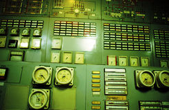 Control room an old power generation plant Stock Photo