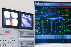 Control room - power plant Royalty Free Stock Image