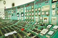 Control room. Of an power generation plant Stock Image