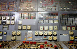 Control room of an power generation plant royalty free stock photo