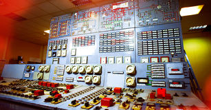 Control room of an power generation plant Royalty Free Stock Photos