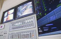 Control room - power plant. The control room of a power generation plant Stock Photos