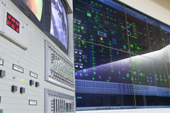 Control room - power plant. Control room of a power generation plant Stock Photos