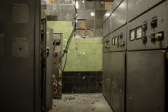 Control room of a power plant Stock Photography