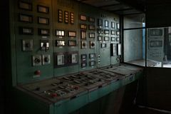 Control room of power plant royalty free stock photos